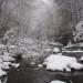 Nantahala River Lodge - The Nantahala River decorated with snow capped rocks.