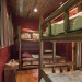 Nantahala River Lodge - The bunkroom has two sets of handcrafted log bunk beds