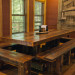 Nantahala River Lodge - The handmade Chestnut Log dining table is a favorite gathering plac