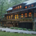 Nantahala River Lodge - Looking at the Lodge from the Nantahala River. The Lodge is warm and inviting