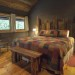 Nantahala River Lodge - The master bedroom has a king size bed handcrafted from barn wood