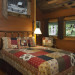 Nantahala River Lodge - The Guest Bedroom has a queen size bed with a handmade hickory headboard